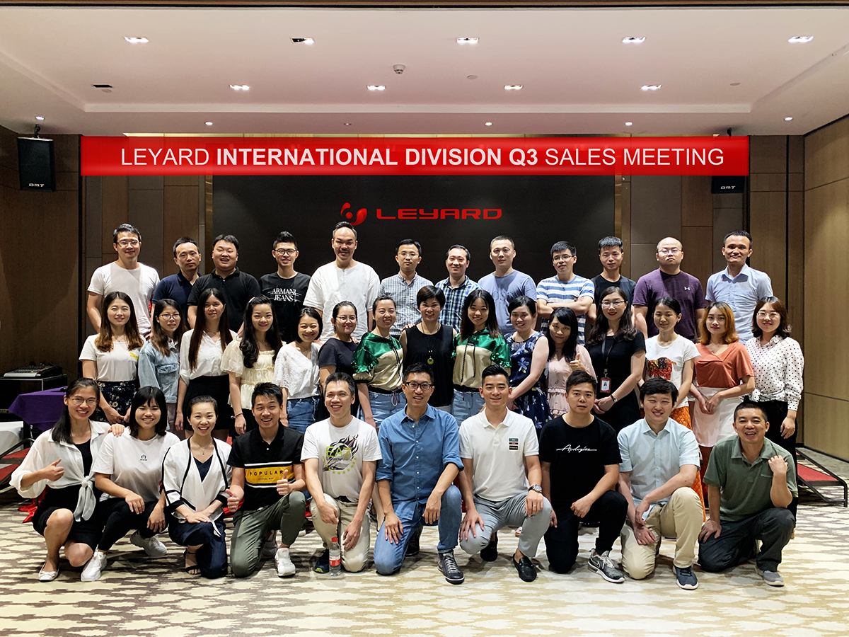 Leyard International Division Q3 Sales meeting was finished successfully